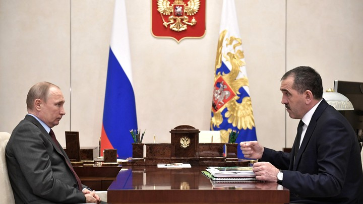 Глава Ингушетии обратился к Путину с просьбой о досрочной отставке