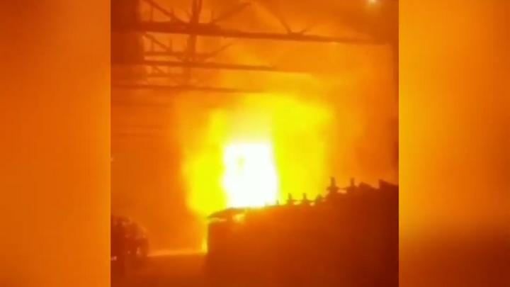 На Новокузнецком алюминиевом заводе произошел пожар