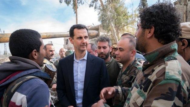 Асад с женой побывали в тоннеле боевиков, переделанном под арт-объект