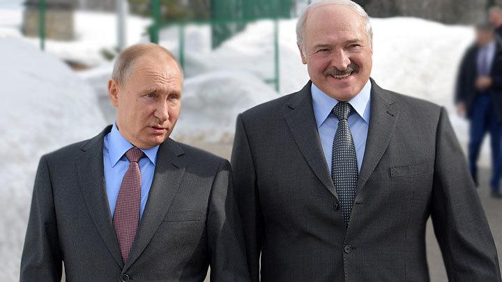 Владимир Путин иАлександр Лукашенко осваивают горнолыжные склоны наКрасной Поляне