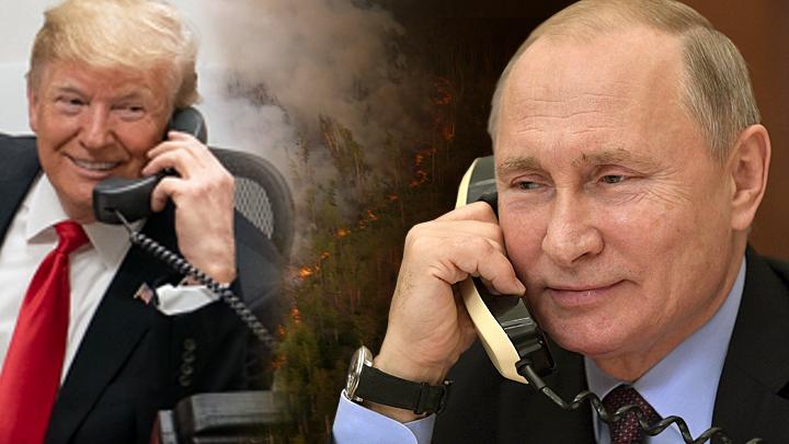 Пиар или искренность: Трамп предложил Путину тушить пожары вместе
