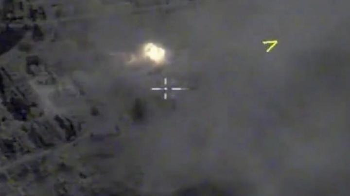 Камера сняла момент удара ВКС России по огневым позициям боевиков – СМИ