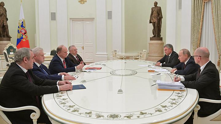 Что думцы удумали: Главы парламентских фракций предложили Путину отдохнуть