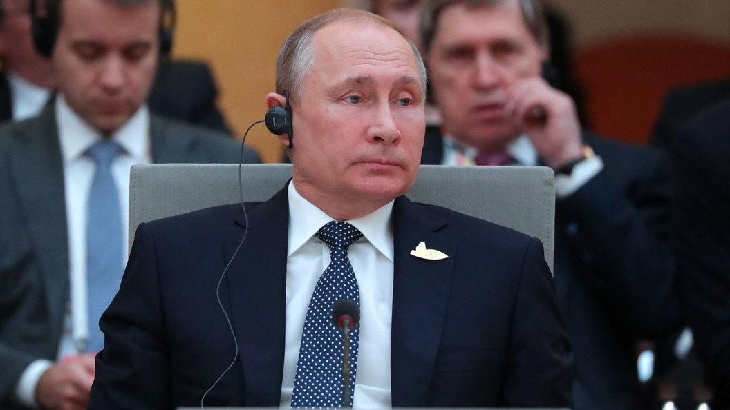 Появилось видео рукопожатия между Путиным иТрампом