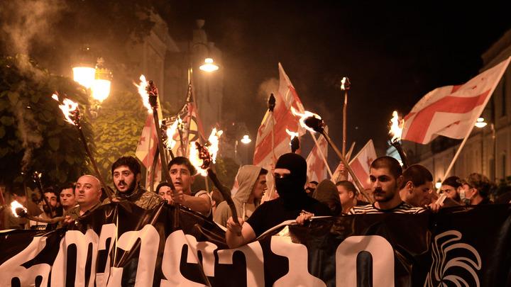Сменили бы вы методички: В Грузии появилась своя Оля-Конституция и села перед полицией