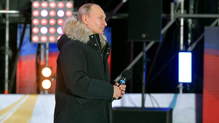 Путин получает 76,68% голосов после обработки 99,94% бюллетеней