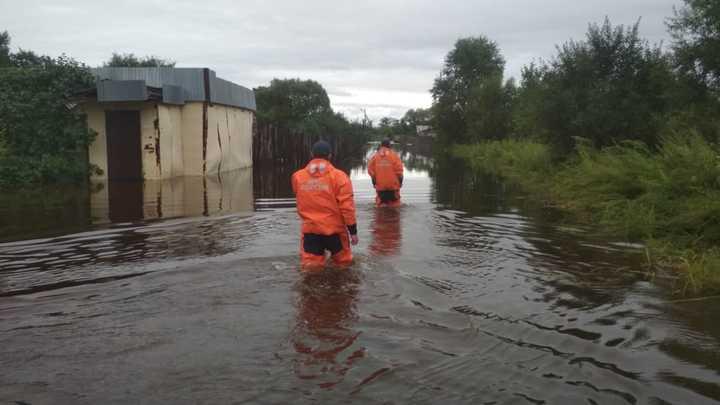 На маленьком плоту: жители Вологодской области смеются над неожиданным паводком