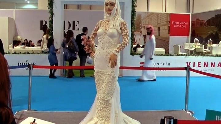 В Дубае съели женщину в свадебном платье за миллион долларов