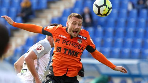 Первый тайм в матче Урала и Спартака завершился победой оранжевых со счётом 1:0
