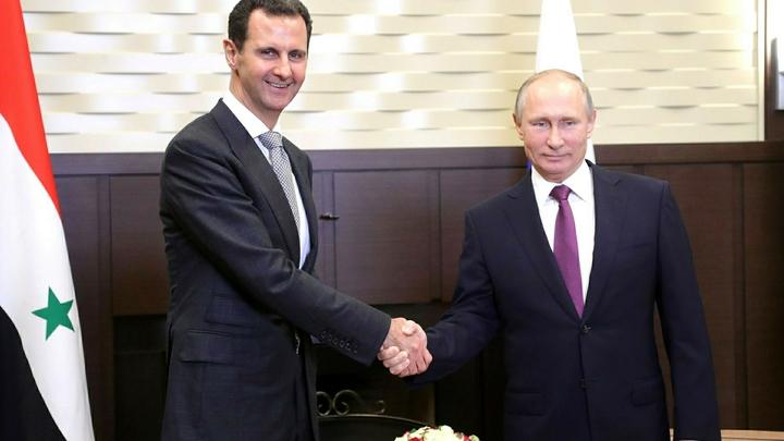 Башар Асад поздравил Путина с победой на выборах с впечатляющим результатом - более 70%