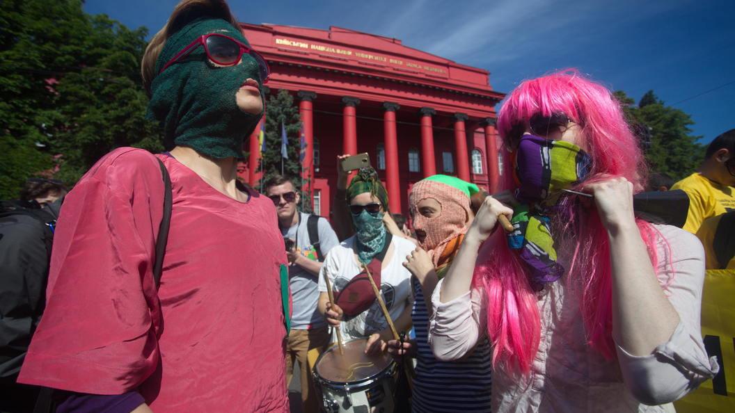 На марше содомитов в Киеве задержали шесть человек