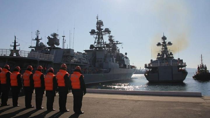 Корабли Каспийской флотилии вышли в море, чтобы сразиться с лжедиверсантами