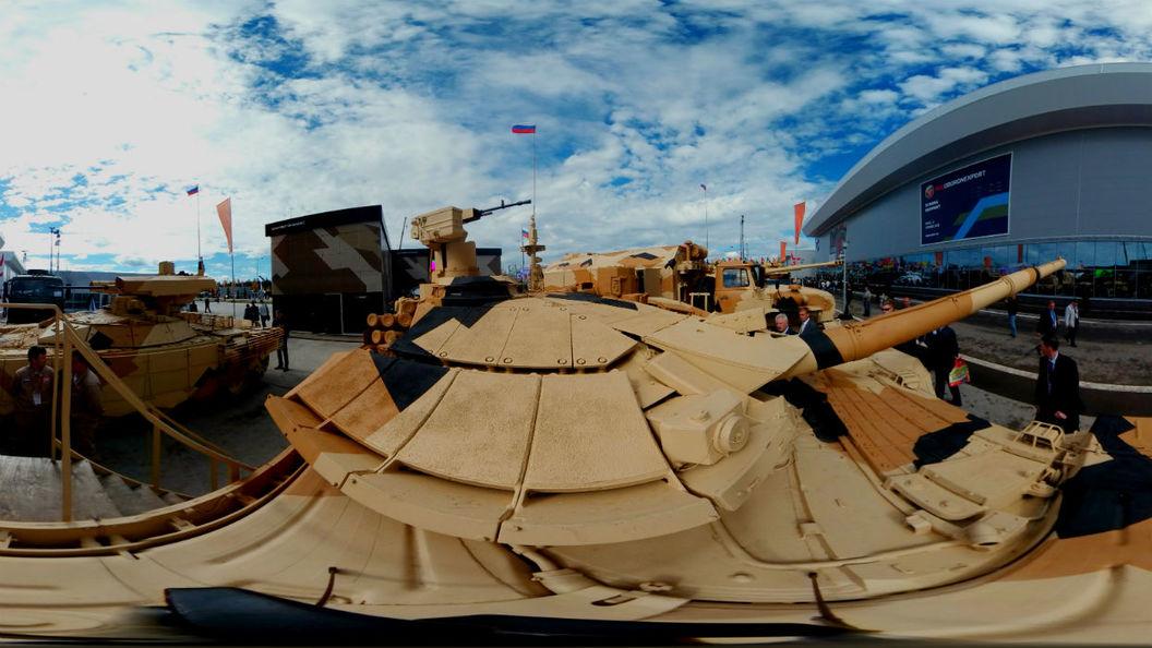 Кабина танка Т-90МС впервые снята в формате виртуальной реальности