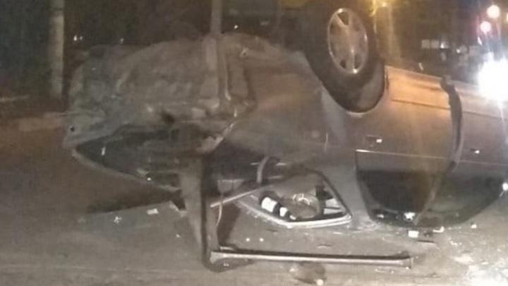 В Чите пострадал водитель иномарки, столкнувшейся с Toyota Mark II