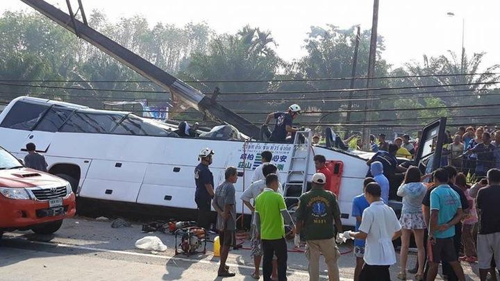 Автобус с российскими туристами разбился в Таиланде