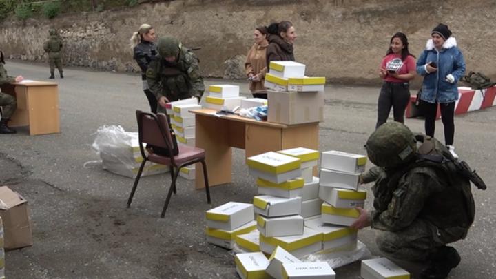 Многодетные семьи в Карабахе получили помощь от миротворцев России