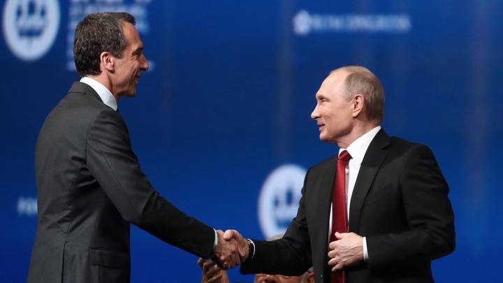 Австрийский канцлер изумился выдержке Путина на пленарке ПМЭФ