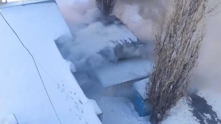 В Нижнем Новгороде во время пожара в кафе пострадал мужчина