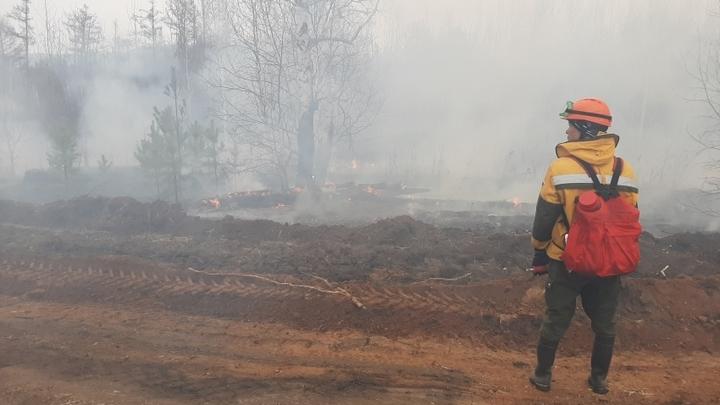 130 человек в Забайкалье борются с 11-ю лесными пожарами