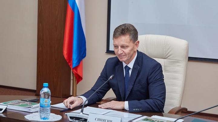 Губернатор Владимир Сипягин лечится от коронавируса дома
