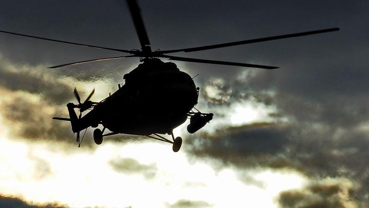 Чёрный дым видно издалека: Появилось видео с места крушения вертолёта Росгвардии