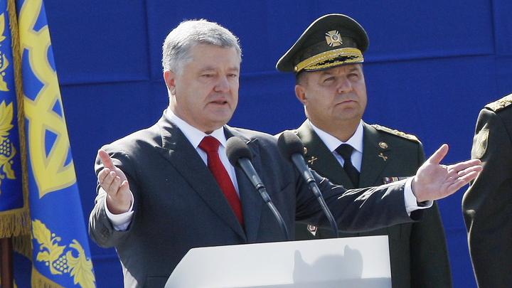 Старье и муляжи: Чем запомнится военный парад Порошенко