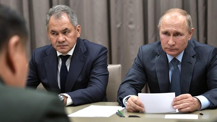 Шойгу на заседании с Путиным сравнил военные бюджеты России и США