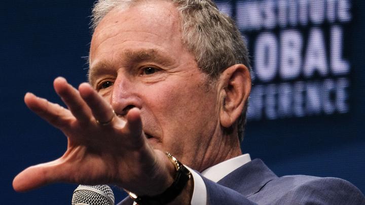 Буш-младший напомнил о себе вмешательством в референдум Македонии