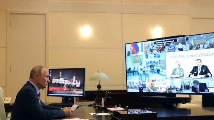 Инструкции от Владимира Путина для онлайн-совещаний: Камера вас возьмёт...