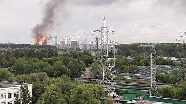 Огненный факел на ТЭЦ в Подмосковье потушен