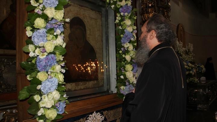 В Москве поклонились Донской иконе Богородицы - заступнице воинов