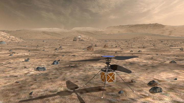 NASA показало ползающих поМарсу «пауков»