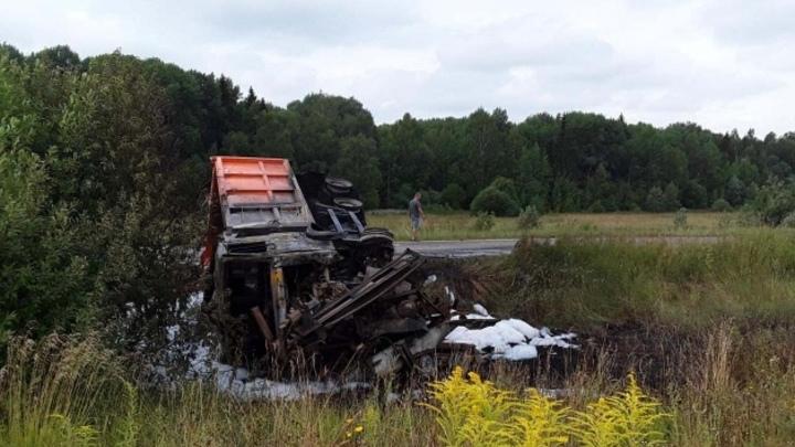 В Ивановской области в ДТП обгорел водитель «МАЗа»