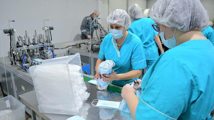 Под Краснодаром разворачивается производство более современных масок. Но они - для медиков