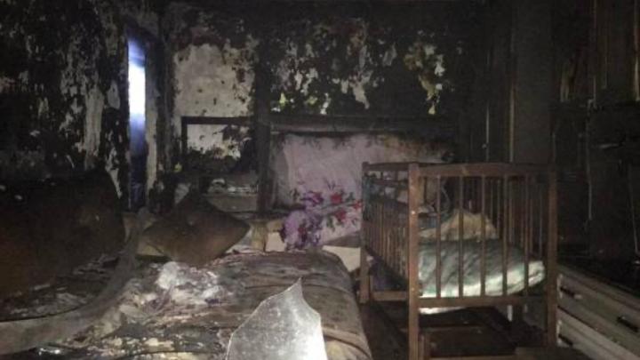 В Самарской области на пожаре погибли трое маленьких детей