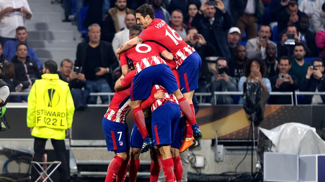 Атлетико минимально выигрывает у Марселя после первого тайма финала Лиги Европы