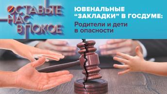Ювенальные «закладки» в Госдуме: Родители и дети в опасности