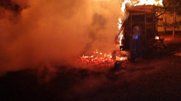 В Судогодском районе ночью в огне погибла женщина