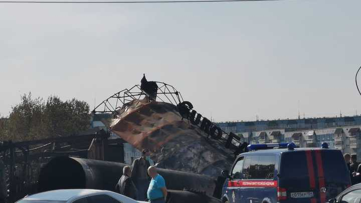 В Новосибирске задержали директора сгоревшей автозаправочной станции
