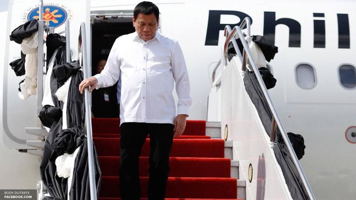 Президент Филиппин Родриго Дутерте прибыл в Москву