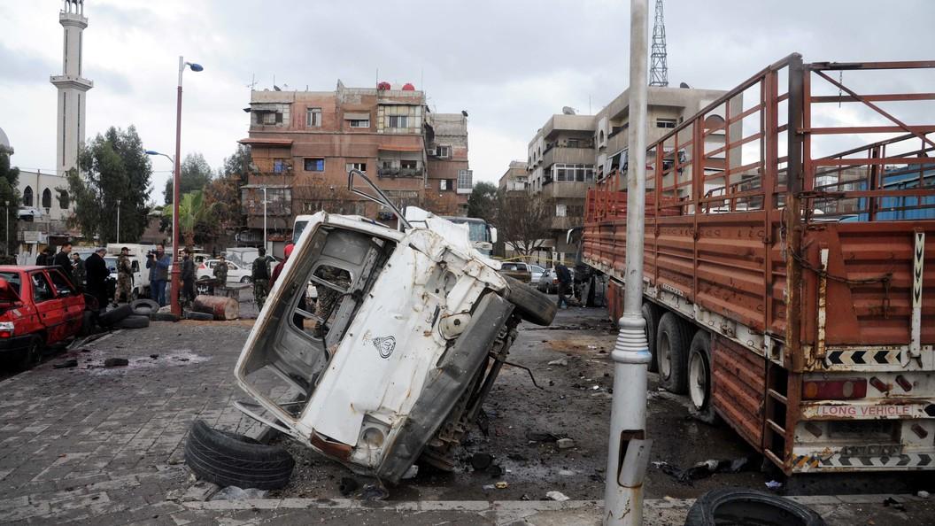 Ликвидированы два пособника террориста, устроившего взрыв в центре Дамаска