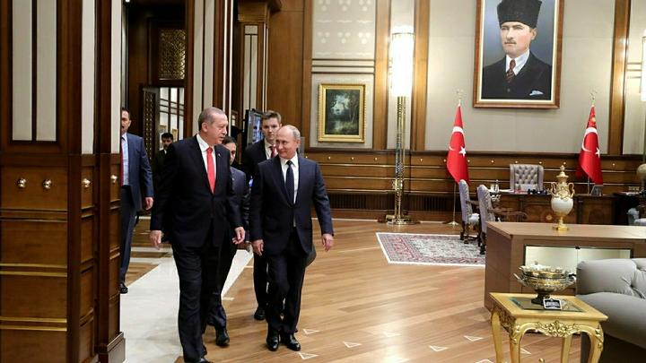 Путин и Эрдоган обменялись любезностями, про войска в Сирии не сказано ни слова