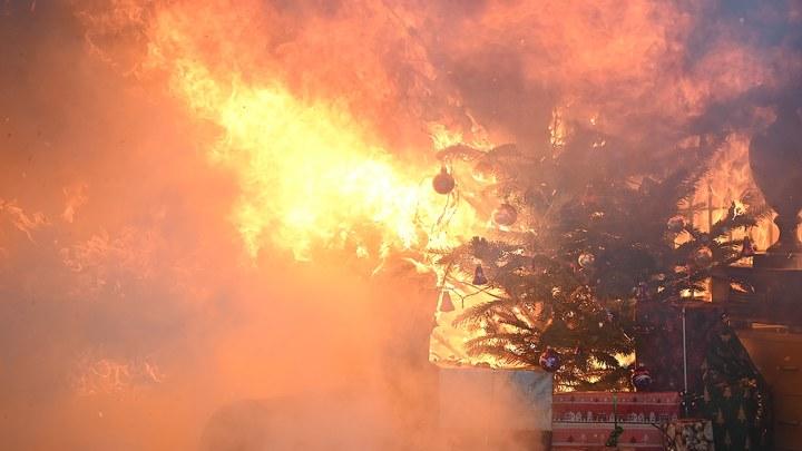 Албанцы пожелали властям огненного Рождества: Протестующие объявили войну новогодним ёлкам