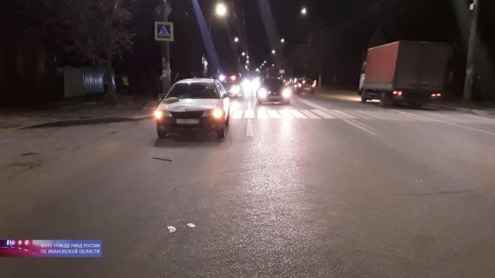 Шокирующее видео: в Иванове «Ниссан» на полном ходу сбил на «зебре» сразу двух женщин
