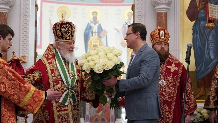 Митрополита Самарского и Новокуйбышевского Сергия наградили почетным знаком
