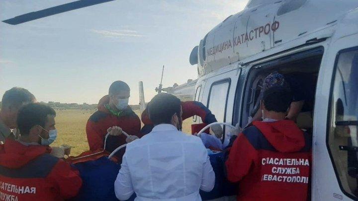 В Краснодар бортом санавиации доставили девочку, пострадавшую при пожаре в Севастополе