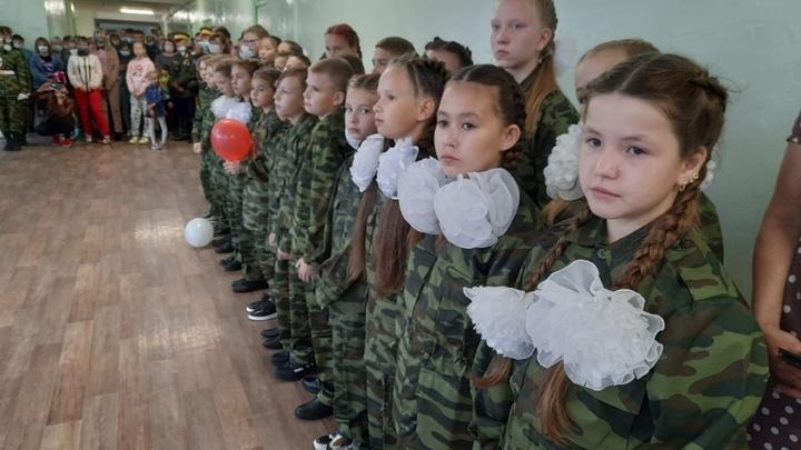 В Краснокаменской школе открыли кадетский казачий класс