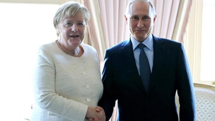ЕС падёт на колени в Кремле?: Пользователи Сети объяснили заретушированную цель визита Меркель к Путину