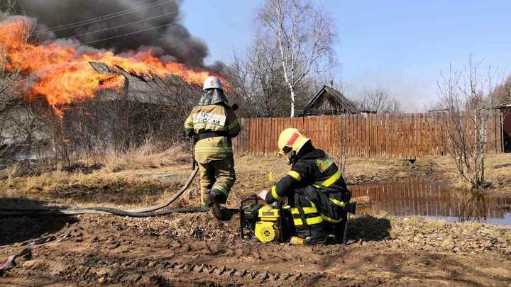Причиной пожара в Гусь-Хрустальном районе стал не поджог травы