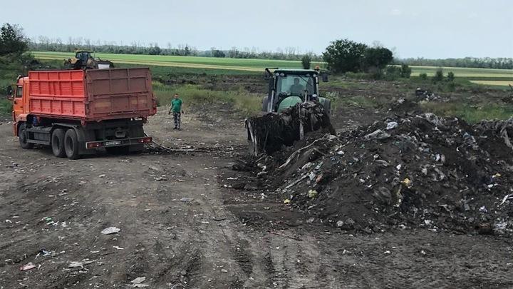 В Усть-Лабинске ликвидировали несанкционированную свалку